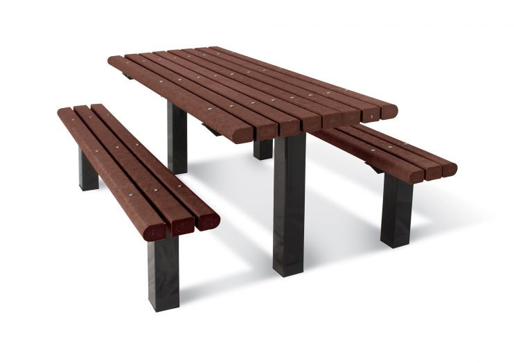 6' Multi-Pedestal Recycled Plastic Picnic Table