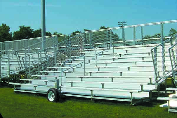 10 Row Transportable Bleachers - Away Game Series