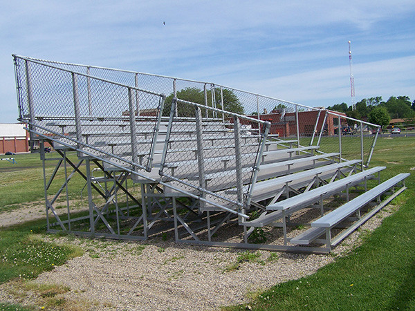 10 Row Aluminum Bleachers - Midfielder Series