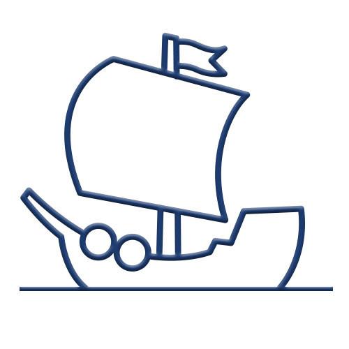Pirate Ship Bike Rack