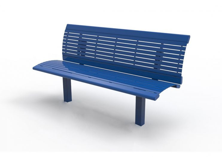 Richmond Series Steel Bench with back