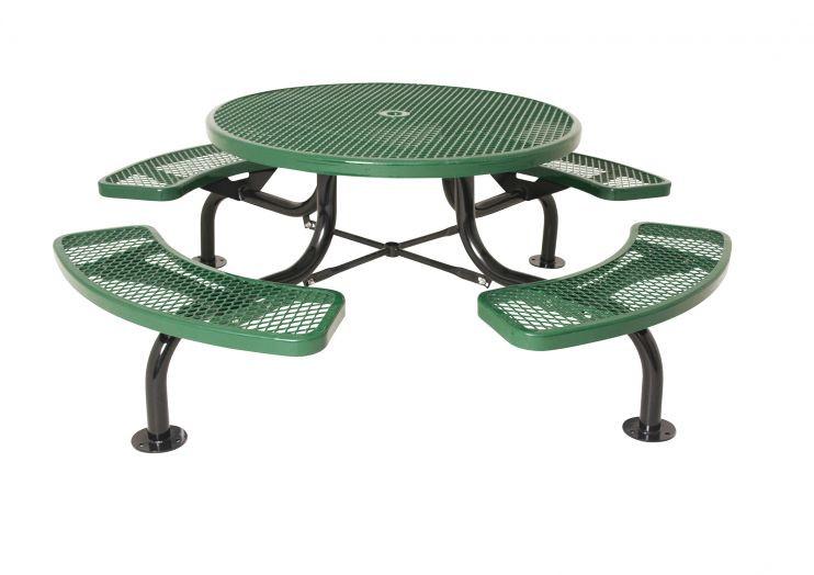 Round Span Leg Picnic Table