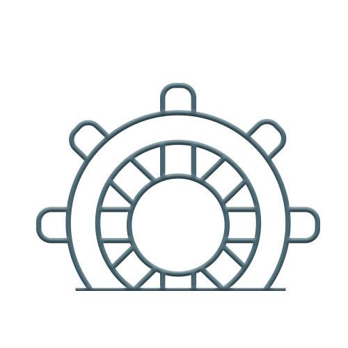 Ships Wheel Bike Rack