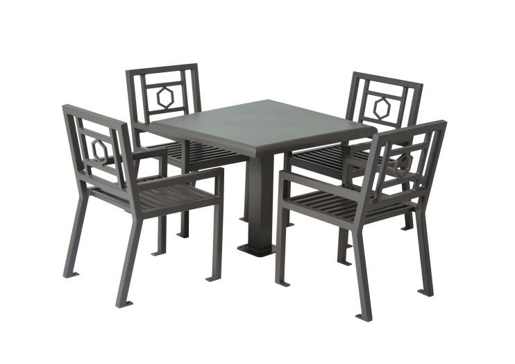 """36"""" Square Huntington Table with 4 Chairs"""