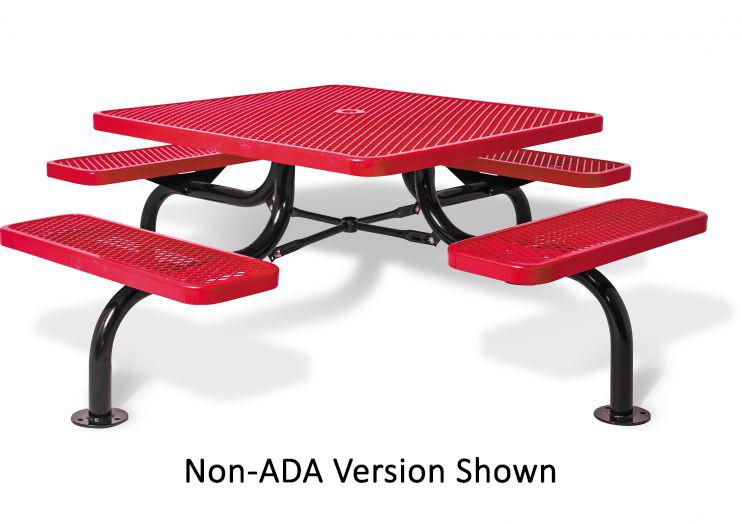 3 Seat Square Span Leg Picnic Table - ADA