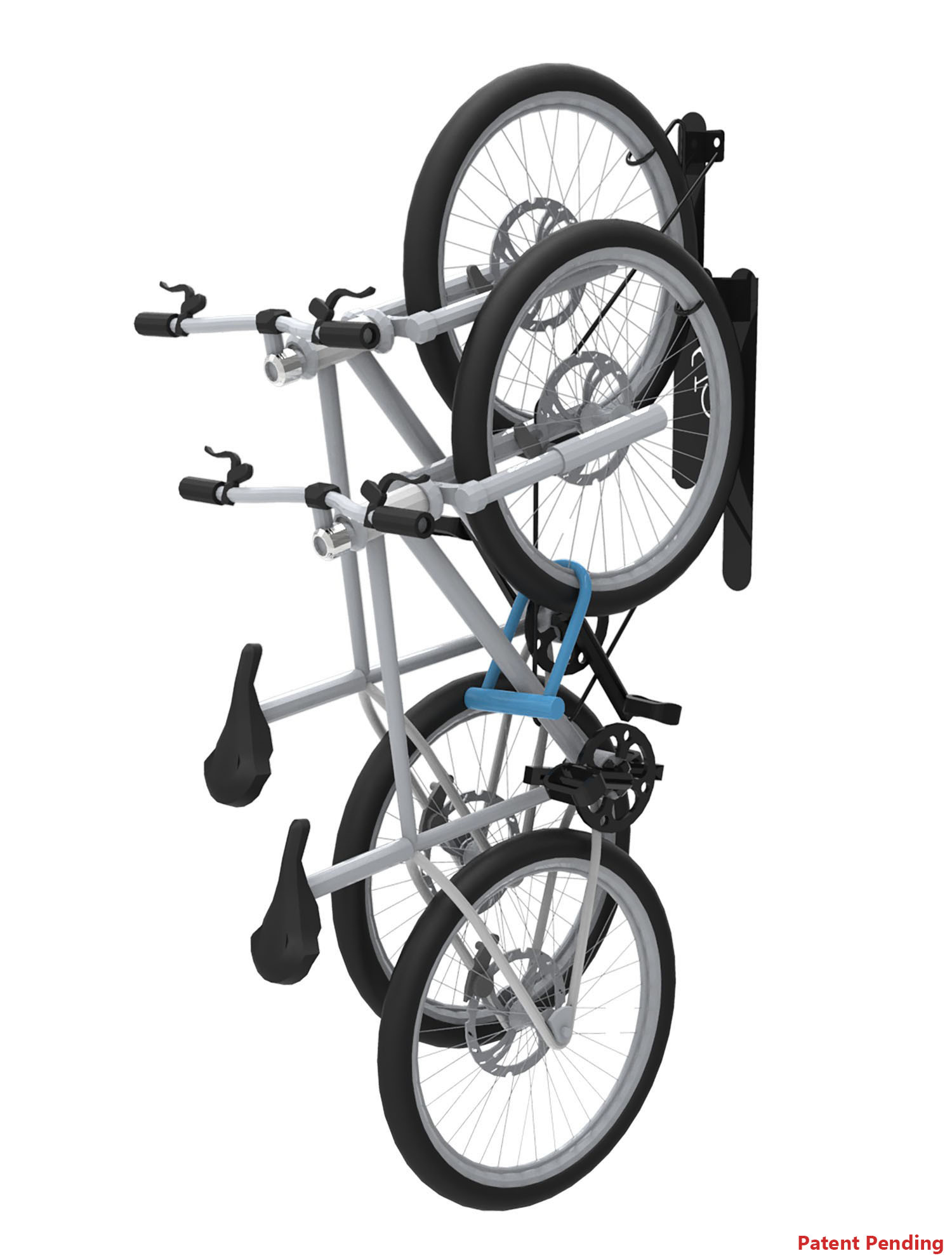 Doubleup Commercial Vertical Wall Mounted Bike Rack 2