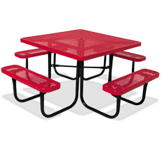 METAL PLASTIC POWDER COATED STEEL PICNIC TABLES