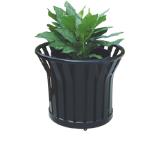 METAL COMMERCIAL PLANTERS