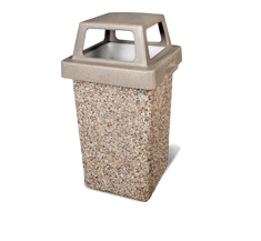 CONCRETE TRASH RECEPTACLES