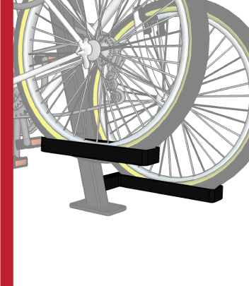 bike dock wheel troughs