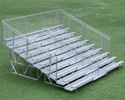 10 row aluminum bleacher small