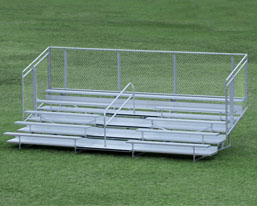 5 row aluminum bleacher small