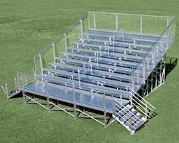 elevated aluminum bleacher small