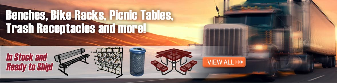 Picnic Tables, Bike Racks, Benches and more!